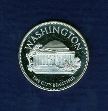 "U.S. FRANKLIN MINT 1971  ""WASHINGTON, D.C."" STERLING SILVER MEDAL, CHOICE PROOF!"