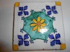 Decoro in argilla,cotto fatto a mano,piastrella tipo ceramica vietri cm. 10x10