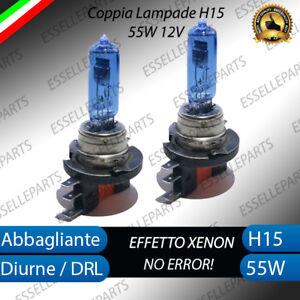 LAMPADE LAMPADINE BLU H15 EFFETTO XENON FORD FIESTA 7 VII RESTYLING 55W 12V