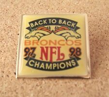 Back to Back 97 98 Champions Denver Broncos lapel pin 1997 1998 Super Bowl 32 33