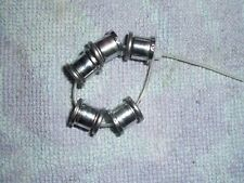 SET OF DOUBLE CHAIN RING FIXING BOLTS.