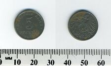 Germany Empire 1921 A  - 5 Pfennig Iron Coin  - WWI mintage - Error -Cracked die