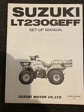 Suzuki LT250GEFF Set Up Manual