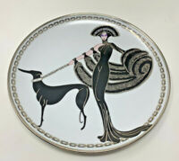 Royal Doulton House of Erté 3 Collectible Plates Lot by Franklin Mint Pre-Owned