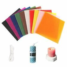 GLAITC 10 Colour Beeswax Candle Making Kit with 10 Feet Cotton WIcks