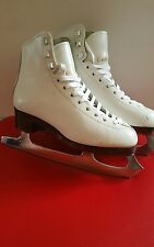 Celebrity  Ice Skates White for women Size 2 with Sheffield blades