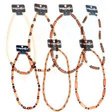 Collares y colgantes de bisutería color principal marrón madera