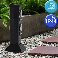 Garten 4-Fach Außen Steckdose Verteiler Hof Außen Strom Versorgung IP44 Erdspieß