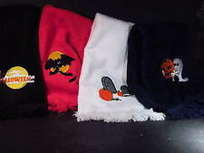 SET OF 4 HALLOWEEN HAND TOWELS OR DISH CLOTHES