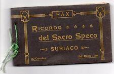 CARTOLINA LIBRETTO RICORDO DEL SACRO SPECO - SUBIACO RIF 4705