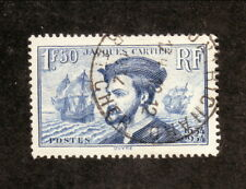 France--#297 Used--1934 Jacques Cartier's Voyage to Canada