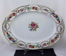 """ROSENTHAL CHINA 'THE DRESDEN' - AIDA - 18"""" OVAL SERVING PLATTER - MINT"""