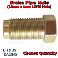 Brake Pipe Nuts 10mm x 1mm Long Male Fitting Nut Male For 3/16 Brake Pipe