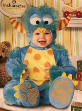 Lil' Monster Costume Baby Small (6-12 Months) ~Defects~ No Slip-On Booties