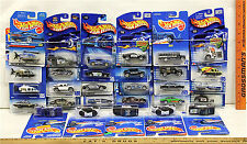 Hot Wheels Police & Sheriff Vehicle Lot 29 Pc 1991-2000 No Two Cards Alike NOC