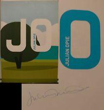 Julian Opie Kunst Art Katalog Original signiert autograph Signatur Autogramm