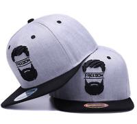 Men Boy Brim Adjustable Snap Flat Baseball Hat Cap Hip Hop Trucker Snapback NEW