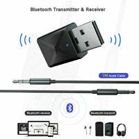 Bluetooth 5.0 Transmitter & Receiver A2DP Audio 3,5mm-Klinkenstecker-Aux-Ad L0Z1