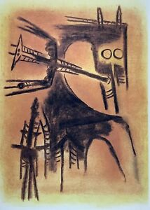 Wifredo Lam. Serigraph. Untitled, ca 1978. Original signed. Numbered