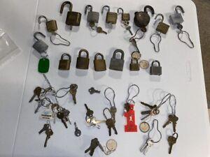 Collection of Vintage Locks & Keys - Fraim, Hurd, Yale, Slaymaker, Royal