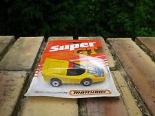 MATCHBOX SUPERFAST SUPER GT FANDANGO jaune d'or état neuf blister jamais ouvert