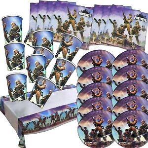 Soldier Gaming Fortnite Birthday Party Balloons Plates Table Cover Napkins