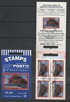 New Zealand 1996 Scenic Airmail self adhesive stamp Booklet fine used set stamps