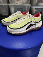 Nike Air Max 97 (GS) YOUTH Size 5.5Y White Rush Pink Volt Shoes #CJ9978-100