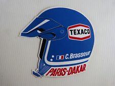 autocollant  : Paris Dakar. . - Claude Brasseur. - Texaco casque.