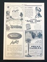 WW1 Era 1916 Newspaper Advert Page CROSSLEY MOTORS, AUSTIN, CAVANDER'S  18/11/16