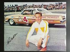 Rex White Autographed 8x10 Photo NASCAR W/ Stats on Back