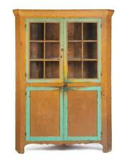 American Country Painted Corner Cupboard. Lot 188