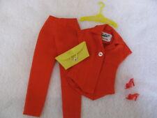 Vintage Barbie PAK Mix n Match RED Body Blouse Slacks Heels Yellow Purse Hanger