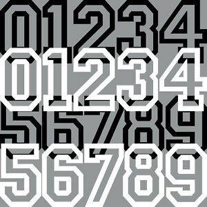 20cm Aufkleber Tattoo Auto Kart Haus Tür Nummer Zahl Ziffer Startnummer Racing