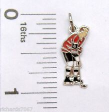 Charm Griffith Sterling Silver enamel ICE HOCKEY sports