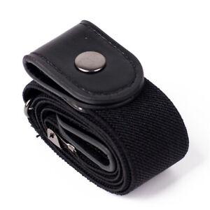 Black No Buckle Stretch Belt Buckless Belt Invisible Elastic Belt Unisex