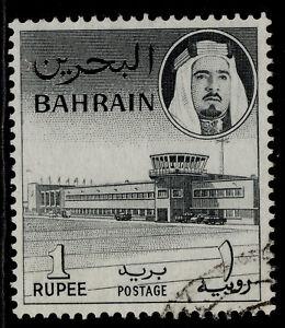 BAHRAIN QEII SG135, 1r black, FINE USED.