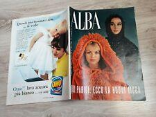 ALBA 1961 N.37 PARIGI: ECCO LA NUOVA MODA. SANDRA MILO. GABRIELA MISTRAL