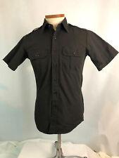 Propper S Small Men's Shirt Button Down Brown Button Pockets Short Sleeve