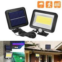 COB 100 LED Solar Luz de Pared Impermeable Sensor de Movimiento Lámpara Exterior