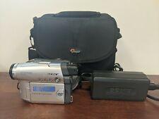 Sony Handycam DCR-DVD201 DVD-R Camcorder Bundle w/ Charger, bag, NEW battery