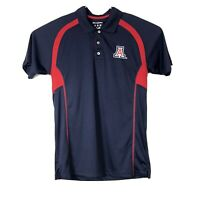 Champion Elite Men's Polo Shirt Sz Medium University of Arizona Blue Red
