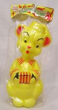 Vintage Tico Toys Teddy Bear Bank Unopened Package w Header 1960s