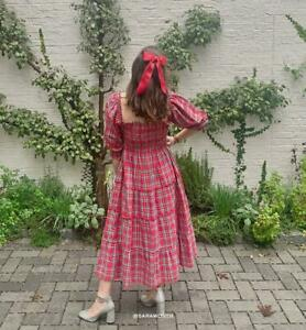 Hill house home red tartan Nesli FLANNEL small NWT
