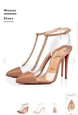 CHRISTIAN LOUBOUTIN  Nosy Spikes Nude Version Leather 100mm Size 36
