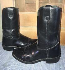 Herman Survivors 10D leather western cowboy boots ROPERS biker/motorcycle, black