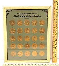 Vintage 1968 Franklin Mint Antique Car Coin Collection Bronze Series 1 1901-1925