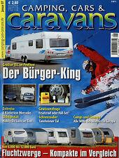 Camping Cars Caravans 1/07 2007 Audi Q7 Caravelair Osiris 542 Hobby de Luxe 460