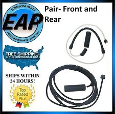 For 2001-2006 BMW M3 E46 3.2L 6cyl PAIR FRONT & REAR Brake Pad Wear Sensor NEW