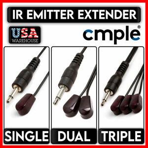 IR Emitter Extender Mini Stick-On Infrared Blink Eye Cord 3.5mm 10 Feet